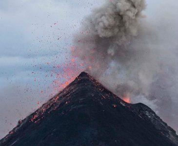 geography-volcano-erupting